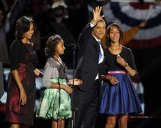 President Barack Obama declares victory:  No matter who you voted for... he is the President of the United States.