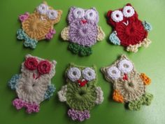 COTTON Crochet Applique Owl