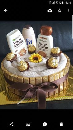Towel cake - gifts for men - # for # . - towel cake – gifts for men – - Homemade Gifts, Diy Gifts, Diy Cadeau Maitresse, Birthday Shots, Diy Cadeau Noel, 21st Birthday Decorations, Towel Cakes, Gift Cake, Gift Baskets