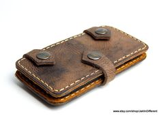 Leather iPhone wallet iPhone 6 plus wallet by JaklinDifferent