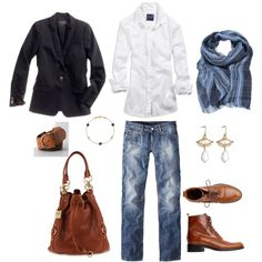 """""""Black, Blue and Cognac"""" No to the Jacket, and no to the shoes, the rest is great"""