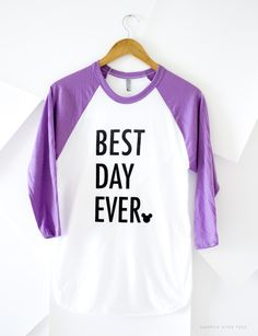 My daughter HAD TO HAVE this top from HappilyEverTees. It's PERFECT ✨ follow @happilyevertees on Instagram for more of their great tops!! BestDayEverorchidraglan.jpg