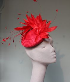Scarlet Feather Cocktail Hat, Jane Taylor