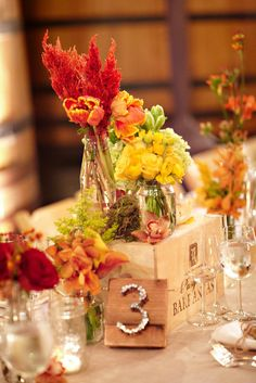 centerpiece + table number