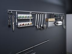 The Linero Backsplash system can be used to organize walls to.  It's not just for your backsplash.