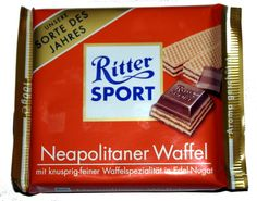Ritter Sport Ritter Sport, Interesting Stuff, Candy, Sports, Waffles, Chocolate, Hs Sports, Sweets, Sport