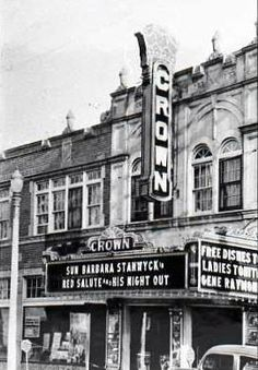 Crown Theatre; located on 16th Street; was operating prior to 1941; kept it's original look into the 1960's though it had apparently closed in 1954. Demolished in the mid-1980's.