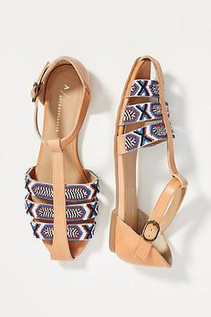 Anthropologie Beaded City Flats