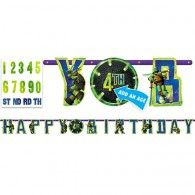 Wish your ninja a happy birthday with an Add-an-Age Teenage Mutant Ninja Turtles Letter Banner! String this Add-an-Age Teenage Mutant Ninja Turtles Letter Banner to add turtle power to a birthday party. Turtle Birthday Parties, Ninja Turtle Birthday, Birthday Ideas, 3rd Birthday, Online Party Supplies, Kids Party Supplies, Ninja Turtle Party Supplies, Snowman Party, Party Stores