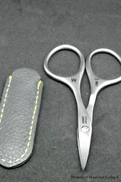 I received these cuticle scissors for free or at a discount for my honest review.  These scissors are sharp! They come in a leather case to keep them in. These are easy to use and open and close nicely.    You can get these