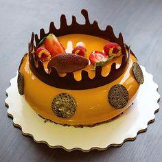 """Шоколад -маракуйя-манго !!! Трудно оценить моральную поддержку, которую я получаю от коллег """"Спасибо вам, коллеги!!! Всем доброго и яркого утра !!!"""