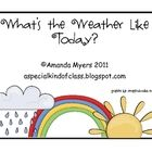 An interactive weekly weather graph and worksheet for your calendar.  Includes a monthly weather graph and a communication board for students to ma...