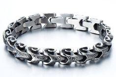 Man Biker Jewelry/Man Biker Bracelet/Capricorn Bracelet/Man Gothic Jewelry/Man Gothic Bracelet/Man Vintage Bracelet/Gift for Son Boyfriend
