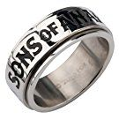"Sons of Anarchy Stainless Steel ""SOA"" Spinner Ring. Available Sizes: 6 and 8 - 12"