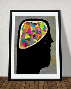 BRAIN art print // colorful illustration // body by schalleszter