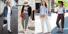 Pantalones de rayas Jeans, Duster Coat, Jackets, Travelling, Style, Vacation, Fashion, Cowboys, Skirts