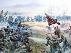 The High Water Mark by Mort Kunstler  (cropped): Gettysburg, July 3, 1863