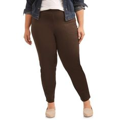 a947fcfb4da62 Petite Just My Size Women s Plus-Size 2-Pocket Stretch Pull-On Pants
