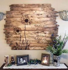Dandelion Art/Reclaimed Wood Wall Art/Wood Sign/Farmhouse