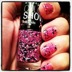 Pink polka dot polish