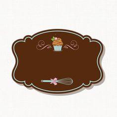 Delicias gourmet Cupcake Logo, Cupcake Card, Dessert Logo, Cake Logo Design, Food Logo Design, Logo Cookies, Logo Doce, Logo Patisserie, Cadre Design
