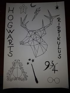 Beresbia Drawing Geometric Riddikulus Harry Potter Hp Hogwarts