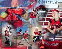 Senior sports photos softball poster ideas marshfield high for Michaels crafts wausau wi