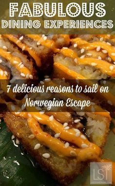 Cruise ships are famed for their fabulous dining options, and Norwegian Escape is no exception. These crispy salmon rolls were one of our favourite dishes in our new favourite Norwegian Cruise Lines restaurant - Food Republic. Discover 7 reasons to travel to Miami and sail the Caribbean on Norwegian Escape.