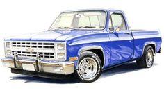 Custom Chevy Trucks, Custom Cars, Chevrolet Impala, Dodge Viper, Foto Cars, Autos Ford, Rendering Art, Truck Art, Automobile