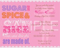 DIY Printable Sugar and Spice Baby Shower Invitation