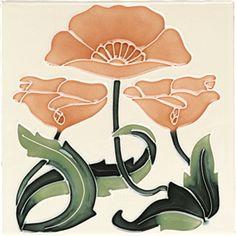 Art Nouveau Reproduction decorative Ceramic tile X or 6 x 6 Inches 45 - fliesen. Fleurs Art Nouveau, Motifs Art Nouveau, Azulejos Art Nouveau, Design Art Nouveau, Art Nouveau Flowers, Art Design, Art Inspo, Inspiration Art, Arts And Crafts Movement