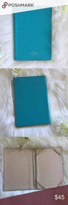 Kate Spade Kindle Fire Tiffany Blue case. Used, still in great condition. Kindle Fire pebble leather case in Tiffany Blue. Will only fit Kindle fire. (Not HD) kate spade Accessories Tablet Cases
