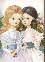 girls in white dresses with blue satin sashes - Google Search