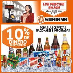 Para ver el partido de hoy, para tu fiesta o cualquier reunión, ven a Soriana por esta Híper oferta en #cerveza.