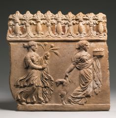 A Terracotta Plaque, Early Roman Imperial, Circa late 1st Century B.C./1st half of the 1st Century CE
