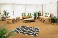 Elegant furniture that look wonderful for white weddings to festival wedding, with a hint of greenery inspired themed plants and cushions. Marquee Hire, Marquee Wedding, White Weddings, Unique Weddings, Arabian Tent, Color Of The Year 2017, Wedding Furniture, Festival Wedding, Luxury Wedding
