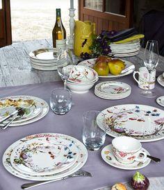 Faïencerie de Gien - Bouquet - Assiettes, tasses, plats en faïence
