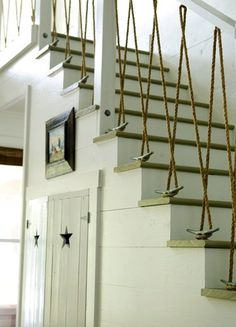 """Something as simple as rope can be quite a beautiful accent for your home. The texture and natural coloration of the rope blends well with many interior styles and color schemes. We've gathered some unique ways to incorporate rope into your space. It's obvious that a bit of """"thinking outside of the box"""" was used when coming up with ideas for us"""