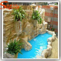 fontaines dintrieur et cascades fontaines dintrieur et cascades dcoratives faux mini jardin pierre rocaille avec poissons tang - Mini Jardin Japonais D Interieur