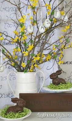 DIY faux chocolate Easter decor