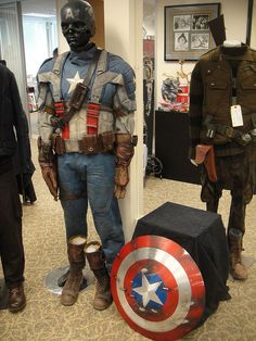 Captain America Prop Auction - Captain America costume and shield | Pinning for future cosplay reference!