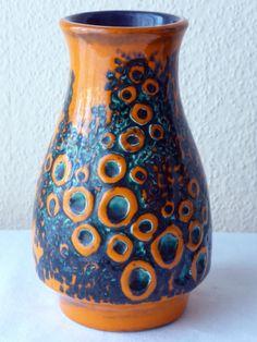 50er 60er Vase Jasba Keramik Fat Lava Relief Nr. 1578 16 in Antiquitäten & Kunst, Design & Stil, 1960-1969 | eBay!