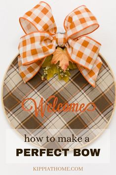 Easy DIY tutorials with videos on how to make 12 bows for a wreath! Instructions include how to make burlap and ribbons bows with no sewing. 12 Bows from simple bows to multi ribbon gorgeous bows. Tree topper bows, wreath bows, gift bows and more. Decorators must have bow resource! #bow #buffalocheck #easybow #wreathbow
