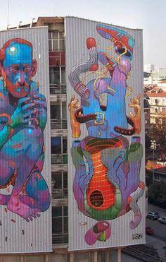 Spanish artist Aryz | urban street artists, graffiti art, urban art