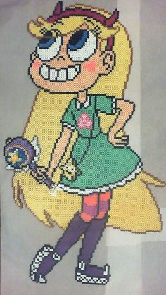 Princess Star Butterfly - Star vs. the Forces of Evil original perler design by phantasm818