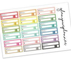 Bill Due - 18 Planner Stickers