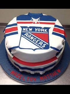 Images About Hockey Cakes Ice Jpg 236x314 Happy Birthday Card New York Rangers