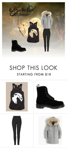 Hunter of Artemis by mysterious-archer on Polyvore featuring J.Crew, Topshop and Dr. Martens