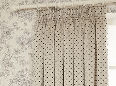 Aquitaine Charcoal Curtain Cameo
