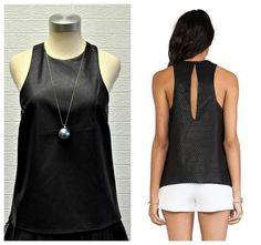 black top now available at Black Tops, Basic Tank Top, Women, Fashion, Moda, Fashion Styles, Fashion Illustrations, Woman